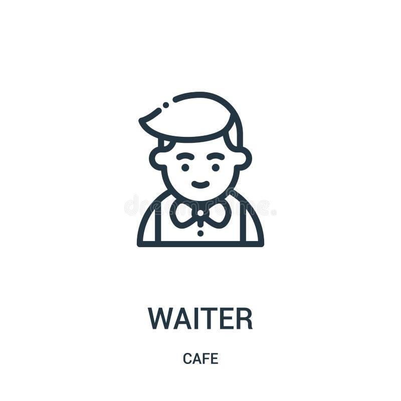 διάνυσμα εικονιδίων σερβιτόρων από τη συλλογή καφέδων Λεπτή διανυσματική απεικόνιση εικονιδίων περιλήψεων σερβιτόρων γραμμών Γραμ απεικόνιση αποθεμάτων