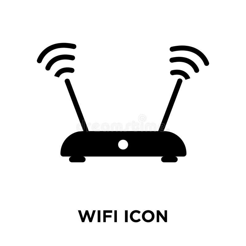 Διάνυσμα εικονιδίων σημάτων Wifi που απομονώνεται στο άσπρο υπόβαθρο, conce λογότυπων ελεύθερη απεικόνιση δικαιώματος
