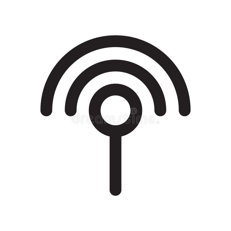 Διάνυσμα εικονιδίων σημάτων Wifi που απομονώνεται στο άσπρο υπόβαθρο, signa Wifi διανυσματική απεικόνιση