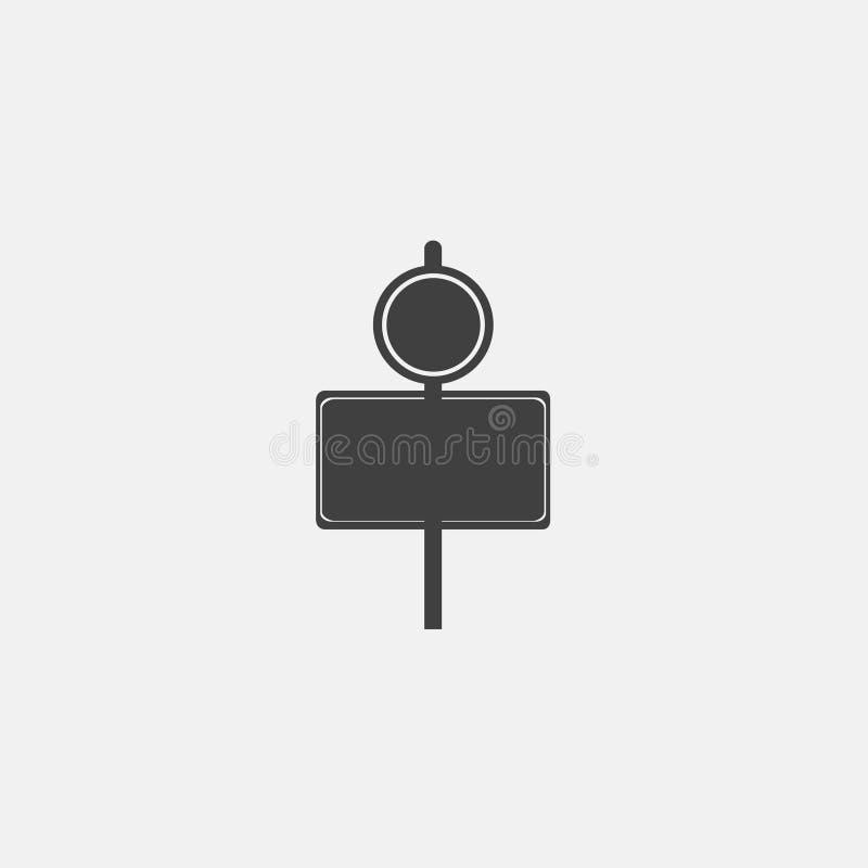διάνυσμα εικονιδίων σημαδιών κυκλοφορίας στοκ εικόνα