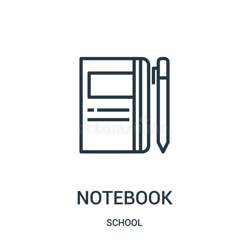 διάνυσμα εικονιδίων σημειωματάριων από τη σχολική συλλογή Λεπτή διανυσματική απεικόνιση εικονιδίων περιλήψεων σημειωματάριων γραμ διανυσματική απεικόνιση