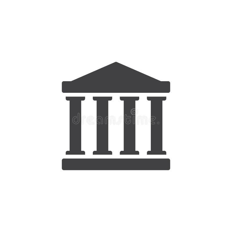 Διάνυσμα εικονιδίων σπιτιών δικαστηρίου απεικόνιση αποθεμάτων