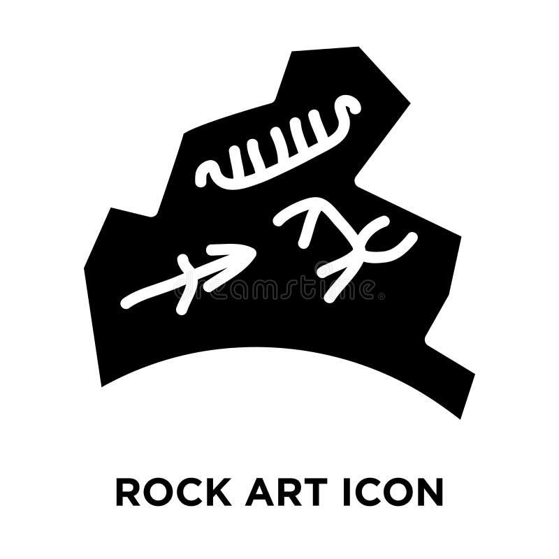 Διάνυσμα εικονιδίων τέχνης βράχου που απομονώνεται στο άσπρο υπόβαθρο, έννοια λογότυπων διανυσματική απεικόνιση