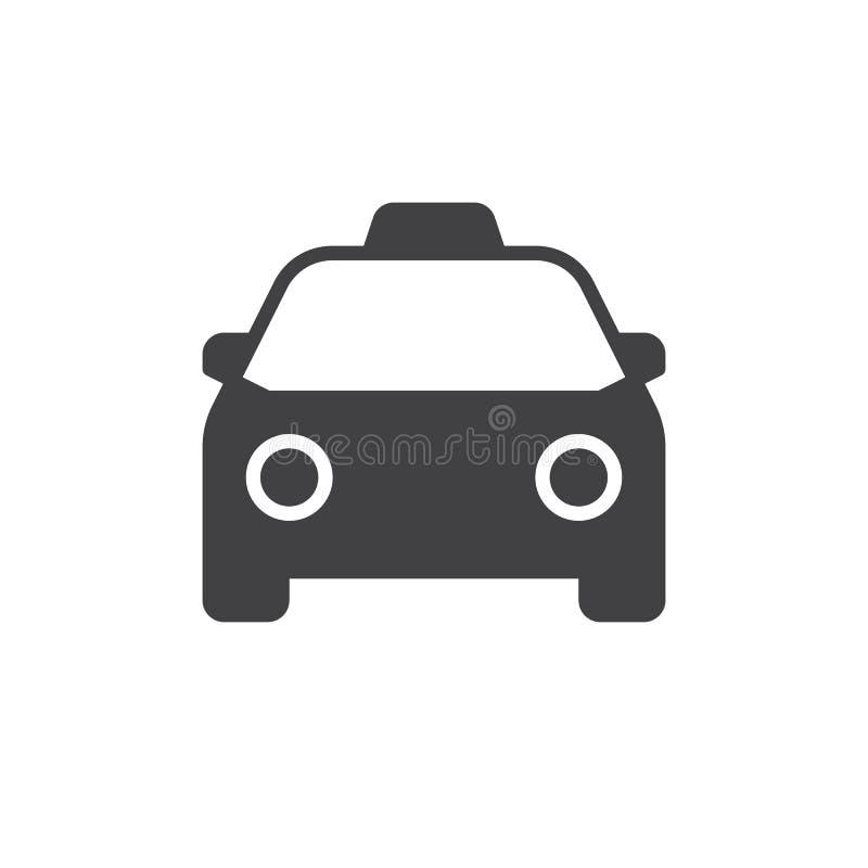Διάνυσμα εικονιδίων ταξί διανυσματική απεικόνιση