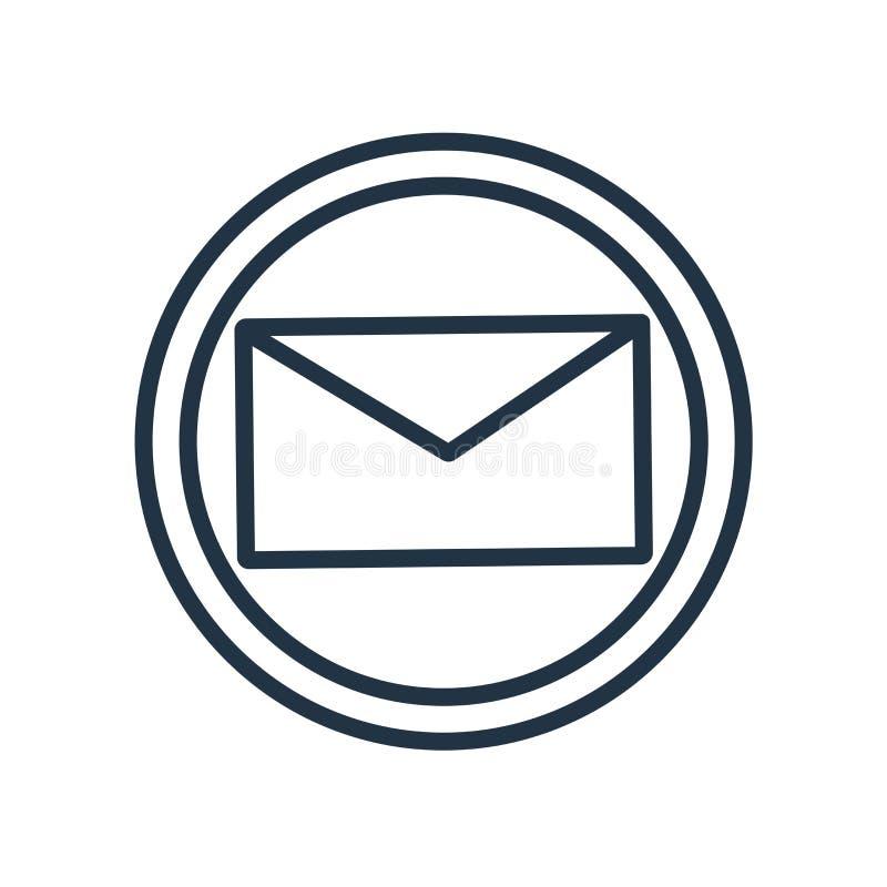 Διάνυσμα εικονιδίων ταχυδρομείου που απομονώνεται στο άσπρο υπόβαθρο, σημάδι ταχυδρομείου διανυσματική απεικόνιση