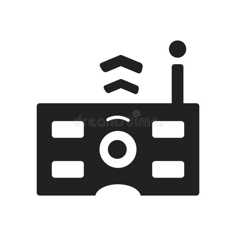 Διάνυσμα εικονιδίων τηλεχειρισμού που απομονώνεται στο άσπρο υπόβαθρο, μακρινό ελεύθερη απεικόνιση δικαιώματος