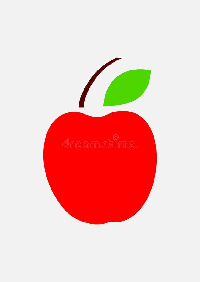 Διάνυσμα εικονιδίων της Apple στοκ φωτογραφίες