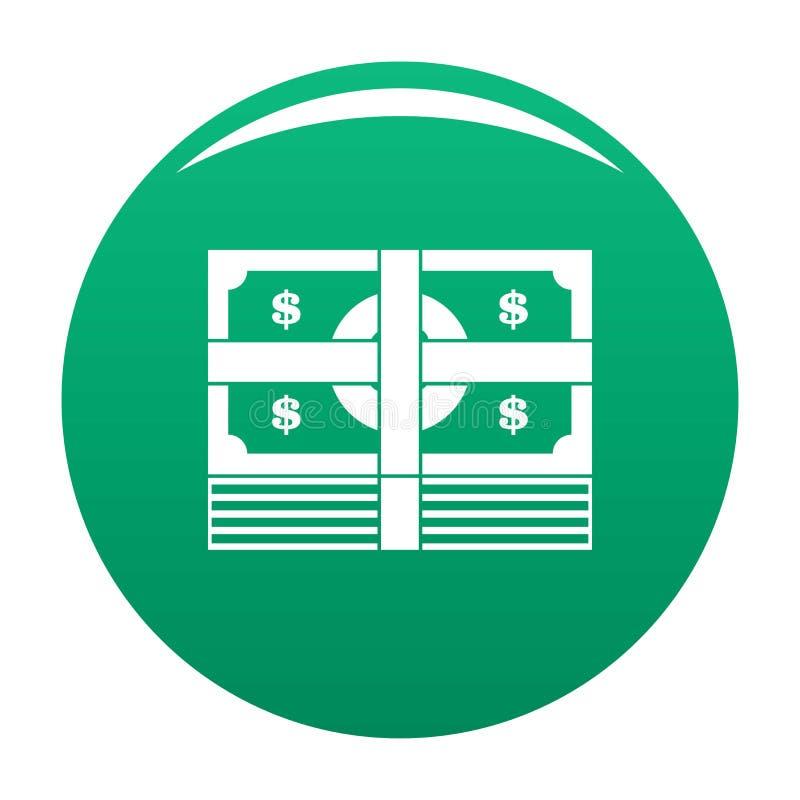 Διάνυσμα εικονιδίων τραπεζογραμματίων δεσμών πράσινο ελεύθερη απεικόνιση δικαιώματος