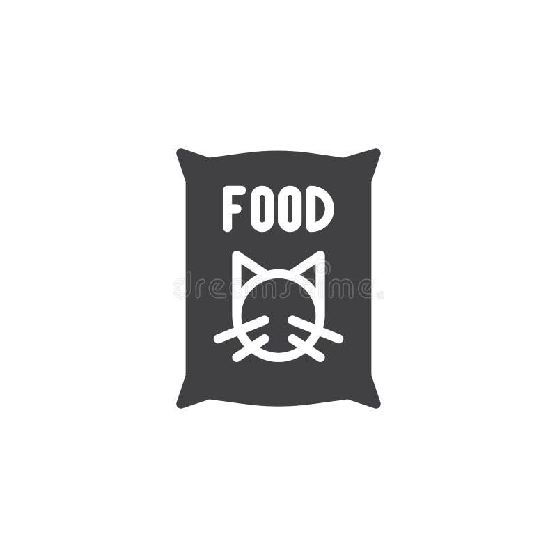 Διάνυσμα εικονιδίων τροφίμων γατών διανυσματική απεικόνιση