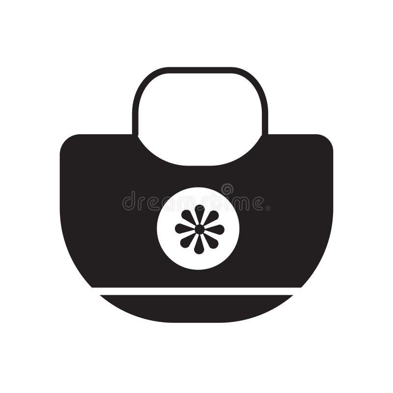 Διάνυσμα εικονιδίων τσαντών παραλιών που απομονώνεται στο άσπρο υπόβαθρο, σημάδι τσαντών παραλιών, σύμβολα διακοπών απεικόνιση αποθεμάτων