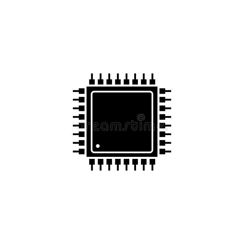 Διάνυσμα εικονιδίων τσιπ υπολογιστή διανυσματική απεικόνιση