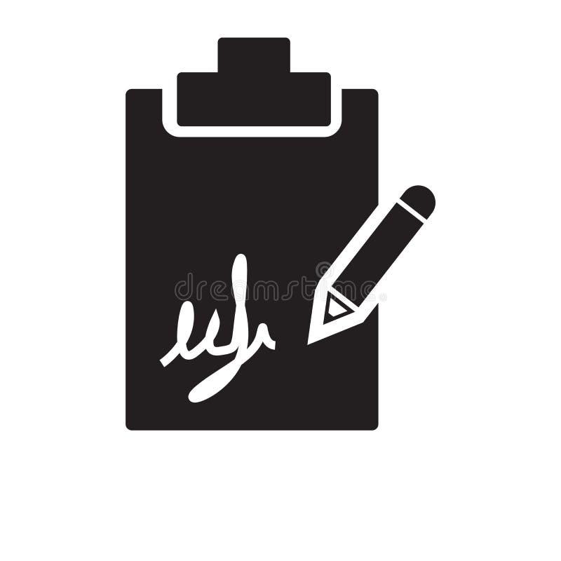 διάνυσμα εικονιδίων υπογραφών που απομονώνεται στο άσπρο υπόβαθρο, έννοια λογότυπων ελεύθερη απεικόνιση δικαιώματος