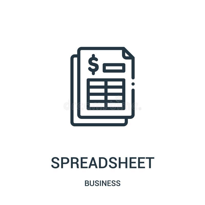 διάνυσμα εικονιδίων υπολογισμών με λογιστικό φύλλο (spreadsheet) από την επιχειρησιακή συλλογή Λεπτή διανυσματική απεικόνιση εικο διανυσματική απεικόνιση