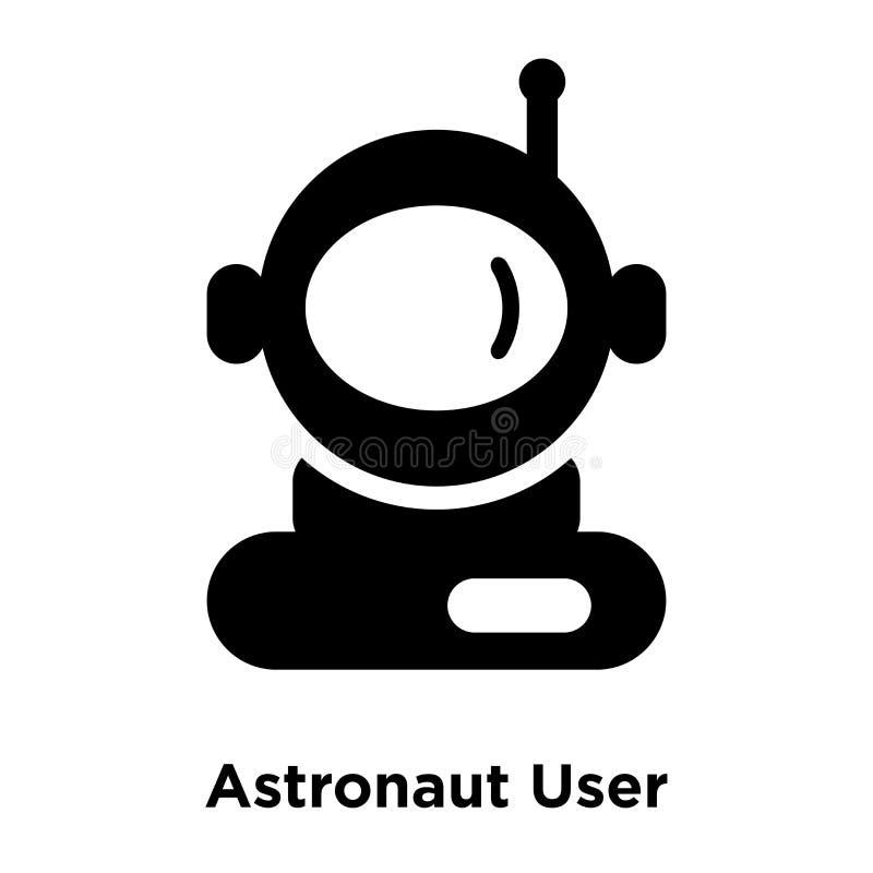 Διάνυσμα εικονιδίων χρηστών αστροναυτών που απομονώνεται στο άσπρο υπόβαθρο, λογότυπο ομο ελεύθερη απεικόνιση δικαιώματος