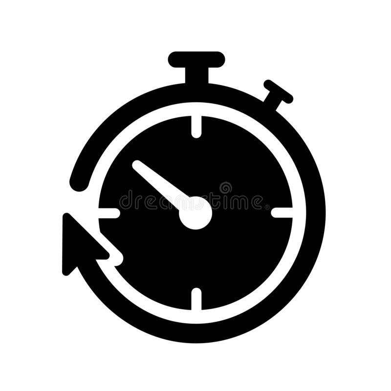 Διάνυσμα εικονιδίων χρονομέτρων απεικόνιση αποθεμάτων