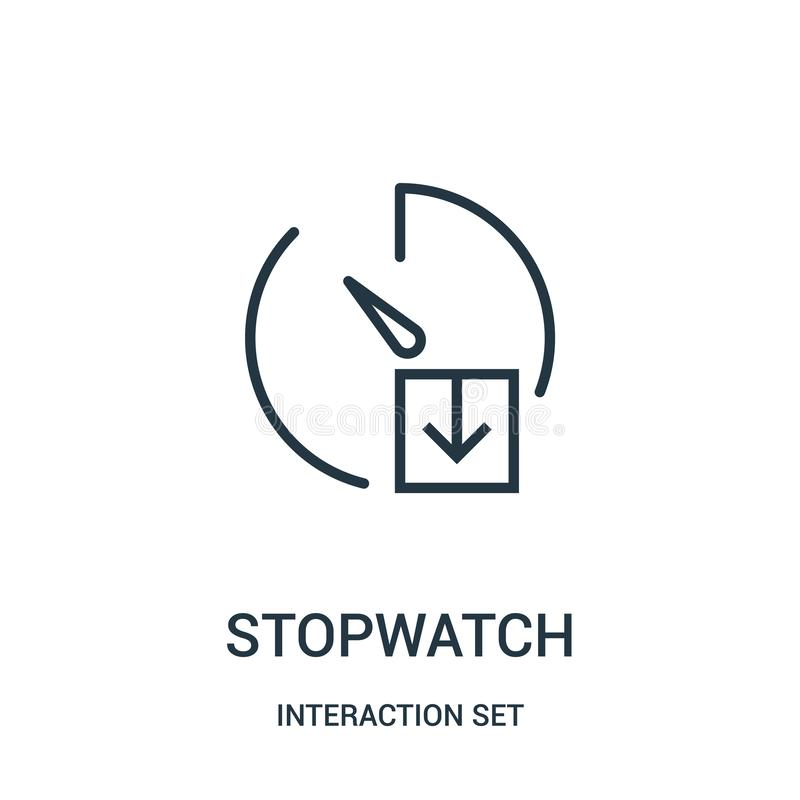 διάνυσμα εικονιδίων χρονομέτρων με διακόπτη από την καθορισμένη συλλογή αλληλεπίδρασης Λεπτή διανυσματική απεικόνιση εικονιδίων π απεικόνιση αποθεμάτων