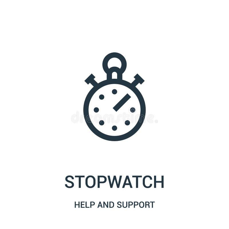 διάνυσμα εικονιδίων χρονομέτρων με διακόπτη από τη συλλογή βοήθειας και υποστήριξης Λεπτή διανυσματική απεικόνιση εικονιδίων περι απεικόνιση αποθεμάτων