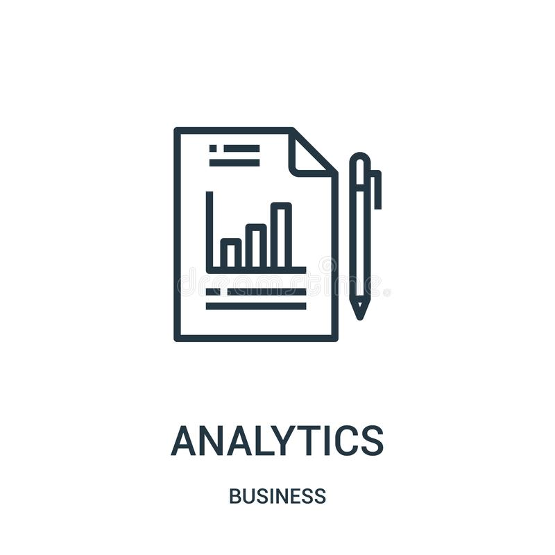 διάνυσμα εικονιδίων analytics από την επιχειρησιακή συλλογή Λεπτή διανυσματική απεικόνιση εικονιδίων περιλήψεων analytics γραμμών ελεύθερη απεικόνιση δικαιώματος