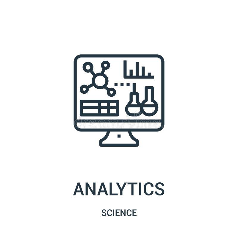 διάνυσμα εικονιδίων analytics από τη συλλογή επιστήμης Λεπτή διανυσματική απεικόνιση εικονιδίων περιλήψεων analytics γραμμών Γραμ απεικόνιση αποθεμάτων