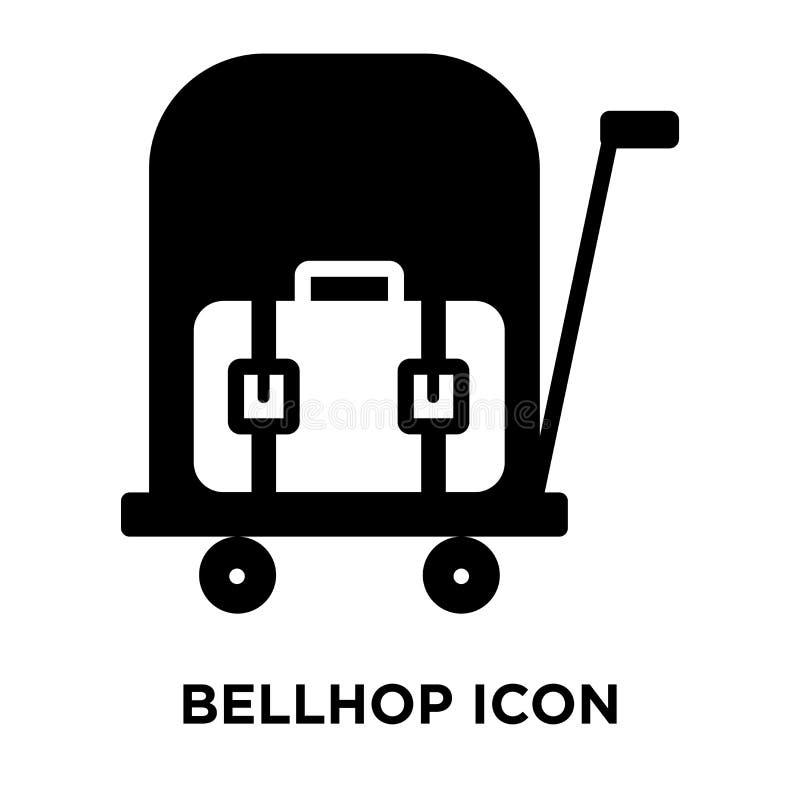 Διάνυσμα εικονιδίων Bellhop που απομονώνεται στο άσπρο υπόβαθρο, έννοια ο λογότυπων διανυσματική απεικόνιση