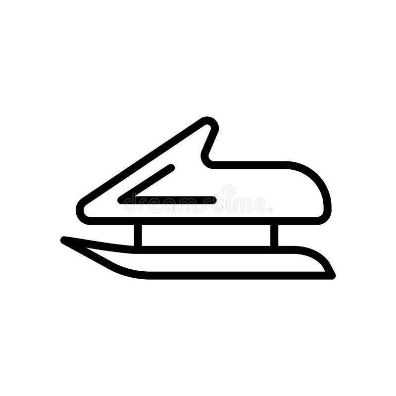 Διάνυσμα εικονιδίων Bobsleigh που απομονώνεται στο άσπρο υπόβαθρο, το σημάδι Bobsleigh, το γραμμικά σύμβολο και τα στοιχεία σχεδί ελεύθερη απεικόνιση δικαιώματος