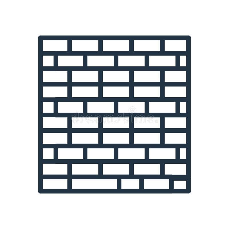 Διάνυσμα εικονιδίων Brickwall που απομονώνεται στο άσπρο υπόβαθρο, σημάδι Brickwall διανυσματική απεικόνιση