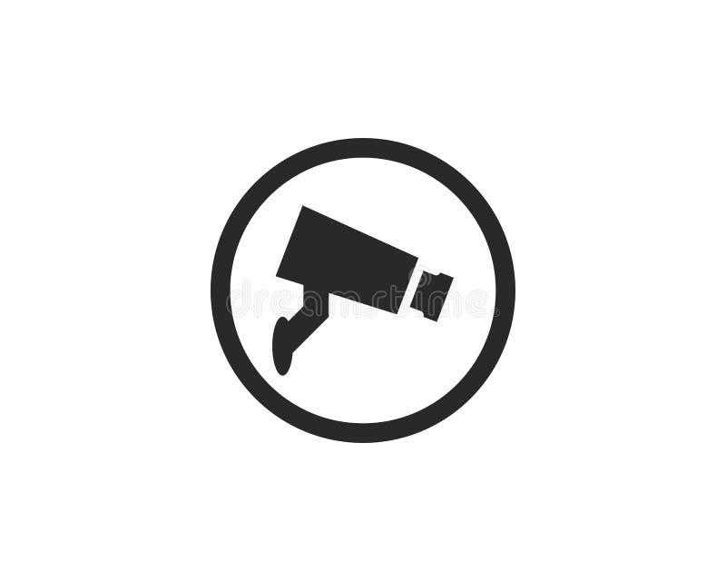 Διάνυσμα εικονιδίων CCTV διανυσματική απεικόνιση