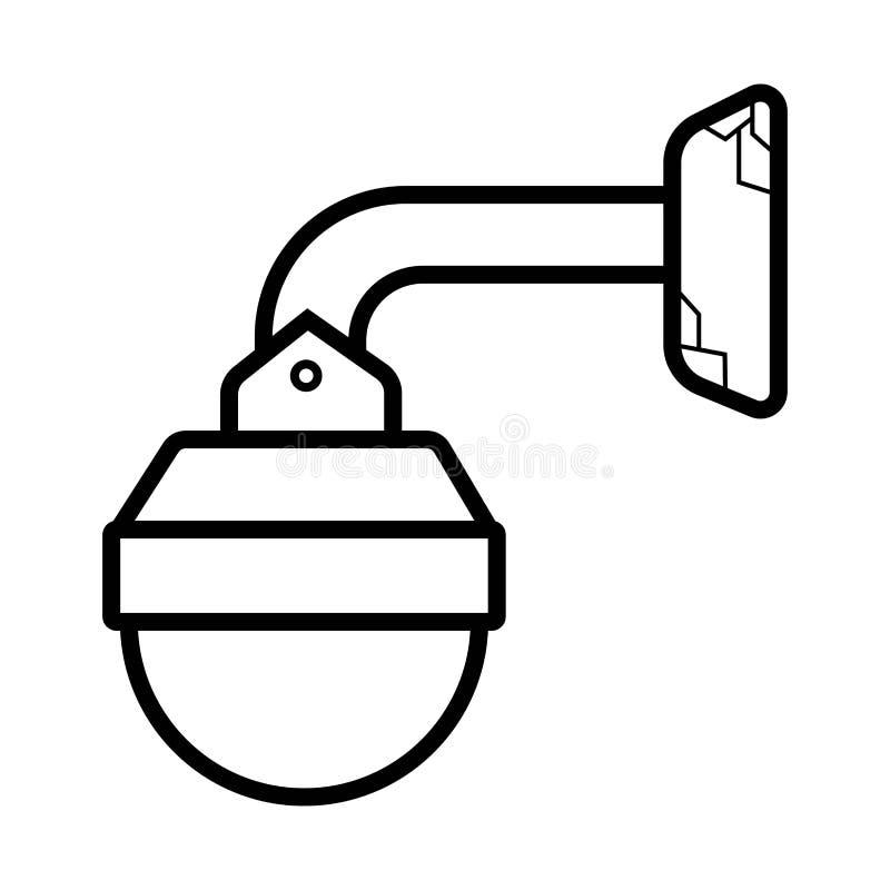 Διάνυσμα εικονιδίων CCTV ελεύθερη απεικόνιση δικαιώματος