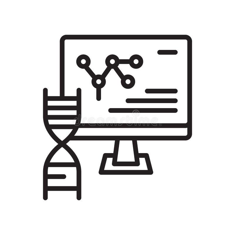 Διάνυσμα εικονιδίων DNA που απομονώνεται στο άσπρο υπόβαθρο, σημάδι DNA, γραμμή ή ελεύθερη απεικόνιση δικαιώματος