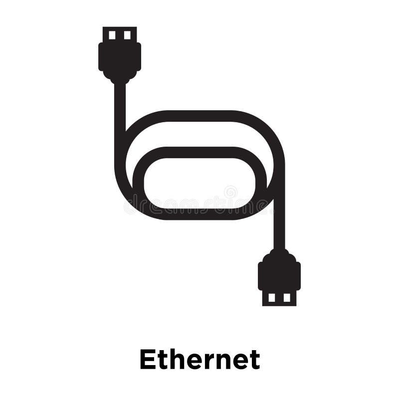 Διάνυσμα εικονιδίων Ethernet που απομονώνεται στο άσπρο υπόβαθρο, έννοια λογότυπων διανυσματική απεικόνιση