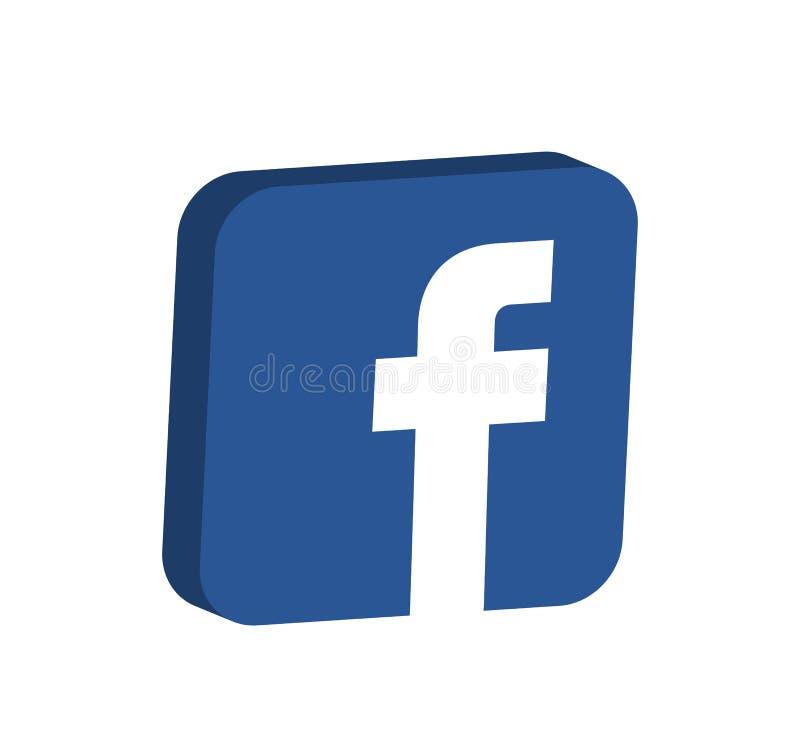 Διάνυσμα εικονιδίων Facebook απεικόνιση αποθεμάτων