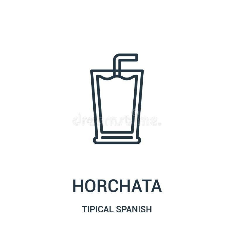 διάνυσμα εικονιδίων horchata από τη tipical ισπανική συλλογή Λεπτή διανυσματική απεικόνιση εικονιδίων περιλήψεων horchata γραμμών διανυσματική απεικόνιση