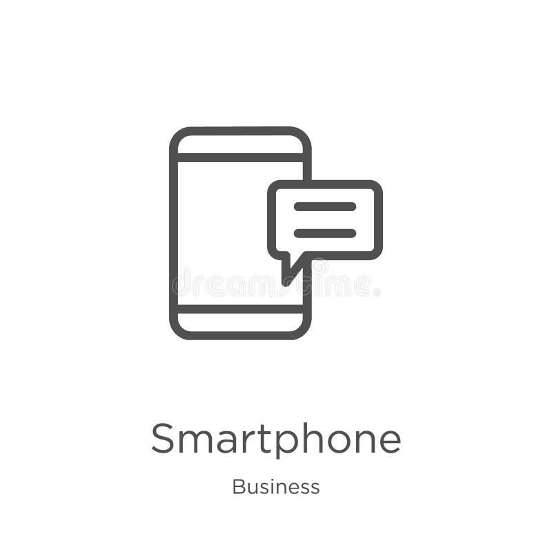 διάνυσμα εικονιδίων smartphone από την επιχειρησιακή συλλογή r r απεικόνιση αποθεμάτων