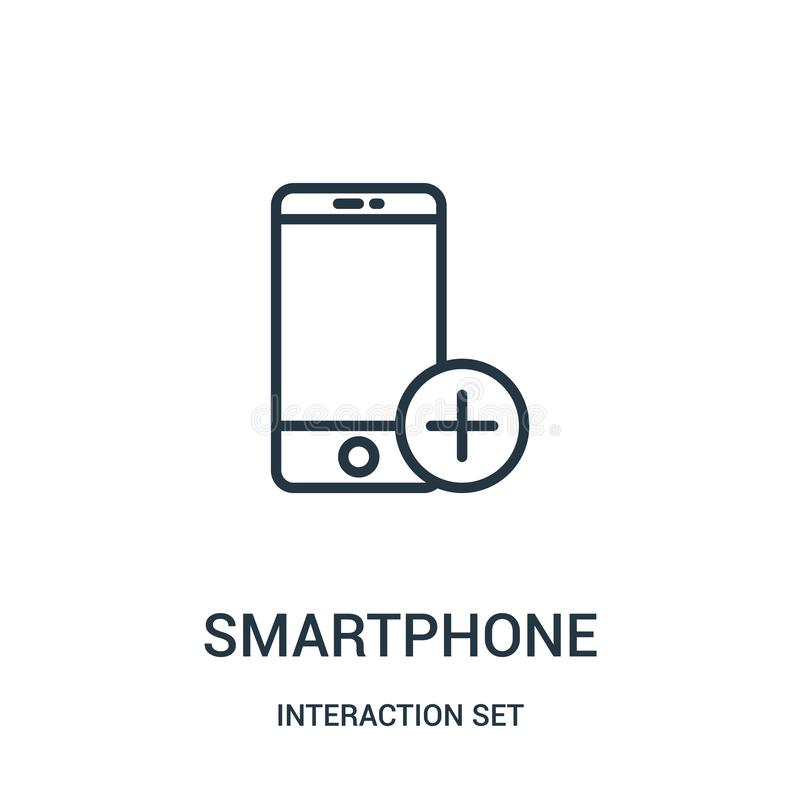 διάνυσμα εικονιδίων smartphone από την καθορισμένη συλλογή αλληλεπίδρασης r ελεύθερη απεικόνιση δικαιώματος