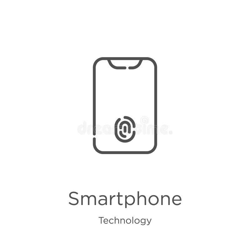 διάνυσμα εικονιδίων smartphone από τη συλλογή τεχνολογίας r r ελεύθερη απεικόνιση δικαιώματος