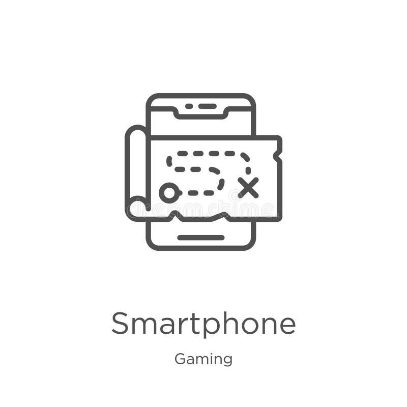 διάνυσμα εικονιδίων smartphone από τη συλλογή τυχερού παιχνιδιού r r διανυσματική απεικόνιση