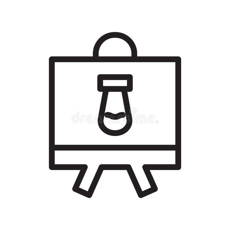 Διάνυσμα εικονιδίων Whiteboard που απομονώνεται στο άσπρο υπόβαθρο, Whiteboard ελεύθερη απεικόνιση δικαιώματος