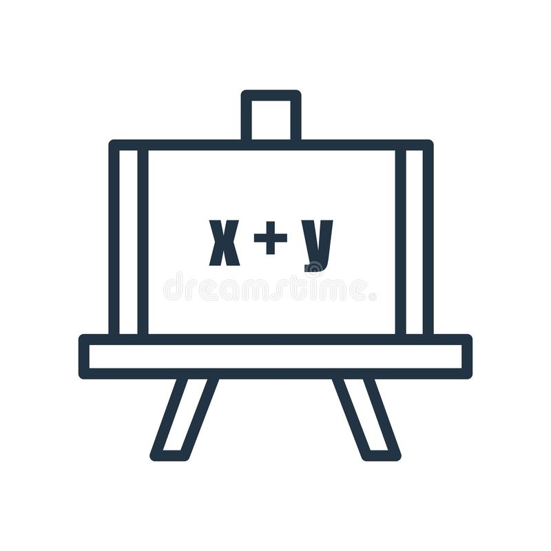 Διάνυσμα εικονιδίων Whiteboard που απομονώνεται στο άσπρο υπόβαθρο, Whiteboard διανυσματική απεικόνιση