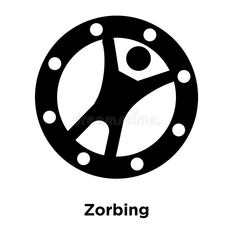 Διάνυσμα εικονιδίων Zorbing που απομονώνεται στο άσπρο υπόβαθρο, έννοια ο λογότυπων διανυσματική απεικόνιση