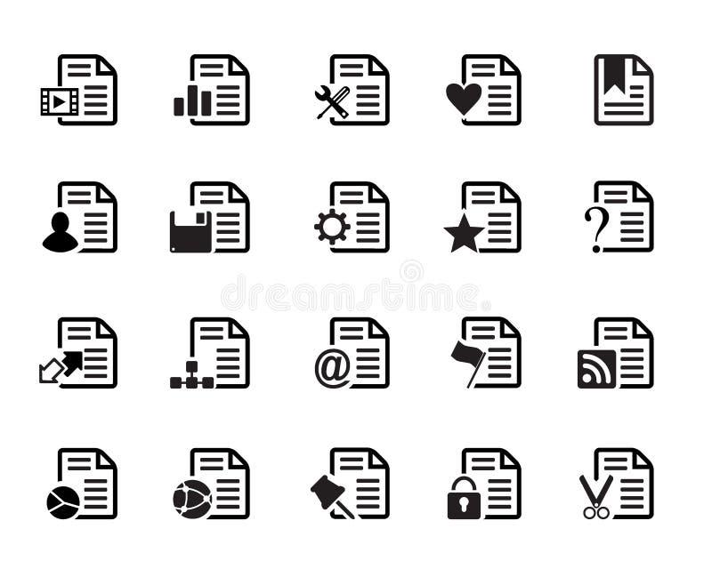 Διάνυσμα εικονιδίων εγγράφων ελεύθερη απεικόνιση δικαιώματος