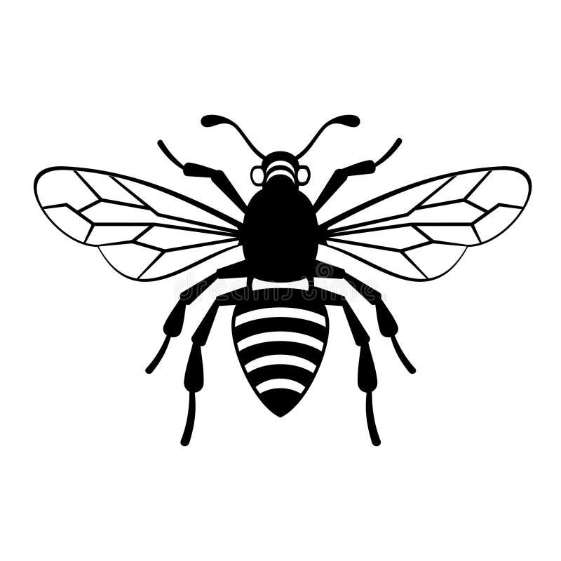 Διάνυσμα εικονιδίων μελισσών διανυσματική απεικόνιση