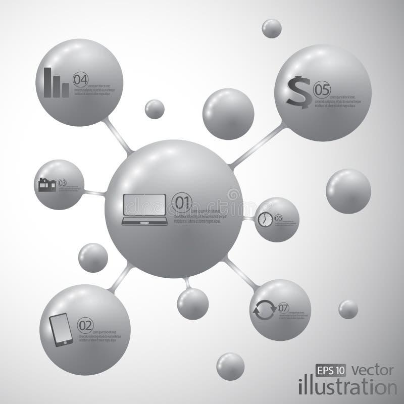 Διάνυσμα εικονιδίων μορίων σύγχρονο πρότυπο σχεδίο&upsil ελεύθερη απεικόνιση δικαιώματος