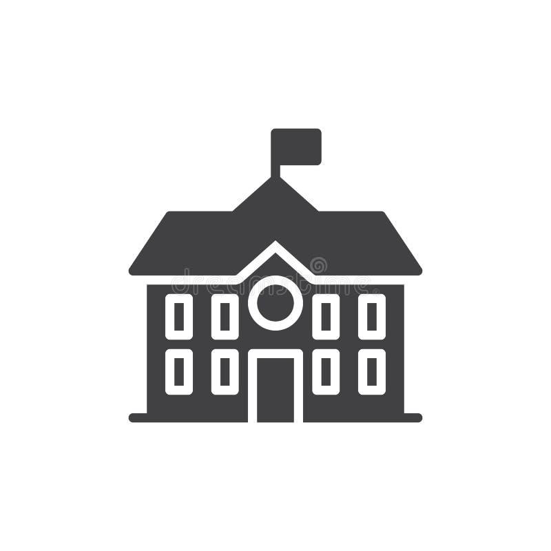 Διάνυσμα εικονιδίων οικοδόμησης γυμνασίου διανυσματική απεικόνιση