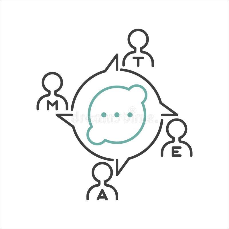 Διάνυσμα εικονιδίων περιλήψεων επιχειρησιακής ομαδικής εργασίας διανυσματική απεικόνιση