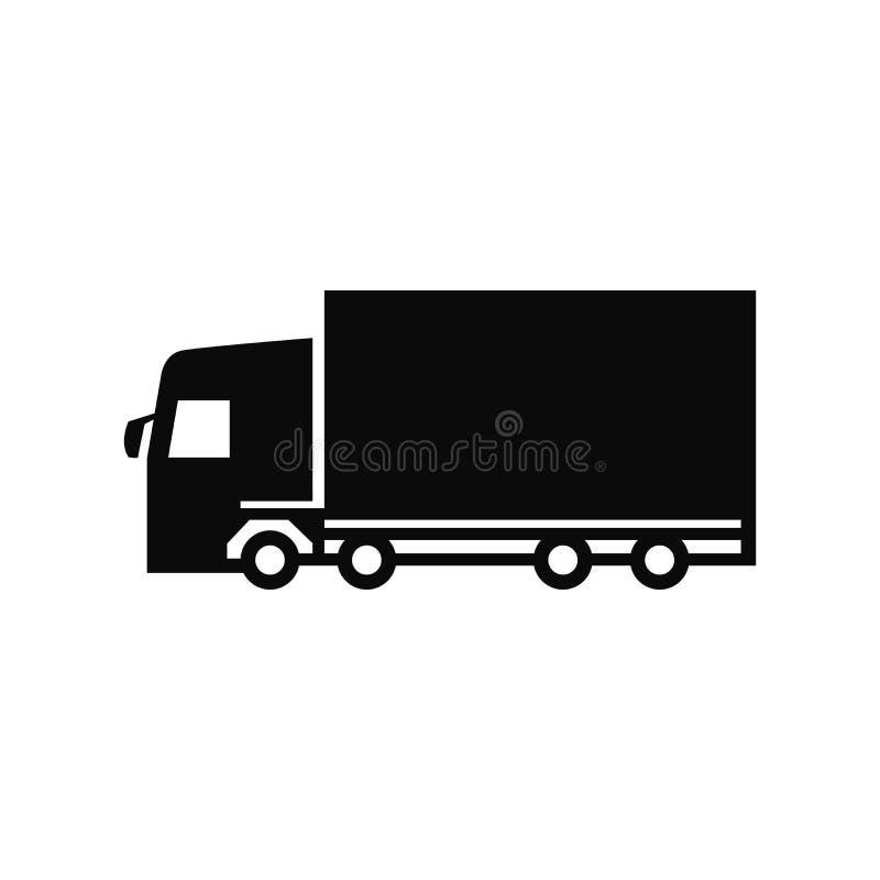 Διάνυσμα εικονιδίων φορτηγών απεικόνιση αποθεμάτων
