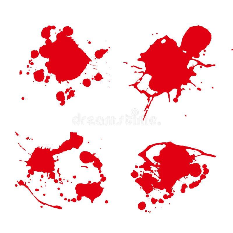 Διάνυσμα λεκέδων χρωμάτων παφλασμών ελεύθερη απεικόνιση δικαιώματος