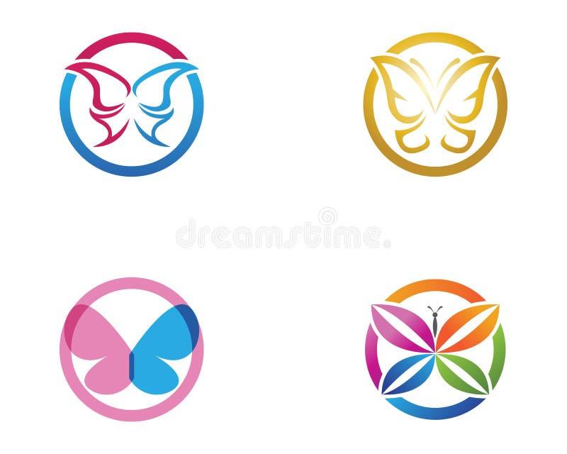 Διάνυσμα - εννοιολογικό απλό, ζωηρόχρωμο εικονίδιο πεταλούδων ΛΟΓΟΤΥΠΟ Vecto ελεύθερη απεικόνιση δικαιώματος