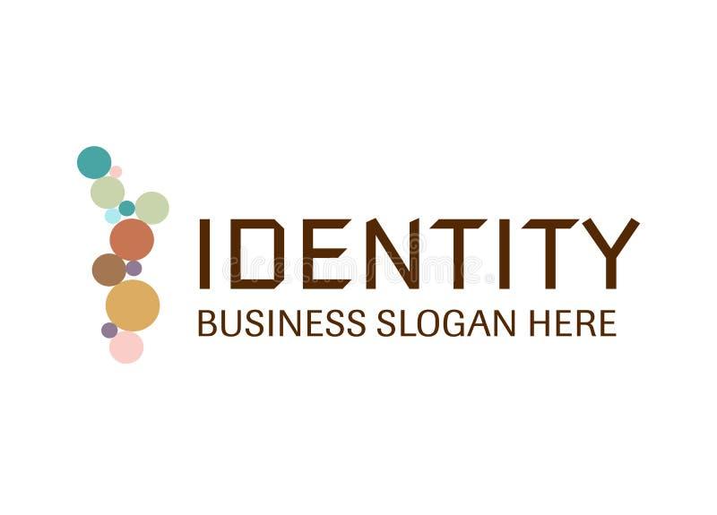 Διάνυσμα - επιχειρησιακό σύγχρονο λογότυπο ταυτότητας, που απομονώνεται στο άσπρο υπόβαθρο επίσης corel σύρετε το διάνυσμα απεικό απεικόνιση αποθεμάτων