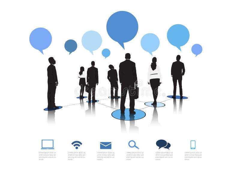 Διάνυσμα επιχειρησιακών επικοινωνιών διανυσματική απεικόνιση