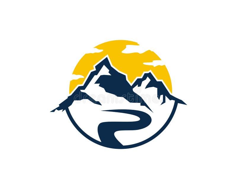 Διάνυσμα επιχειρησιακών προτύπων λογότυπων εικονιδίων βουνών απεικόνιση αποθεμάτων